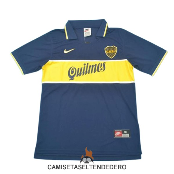 camiseta boca junior retro primera 1995