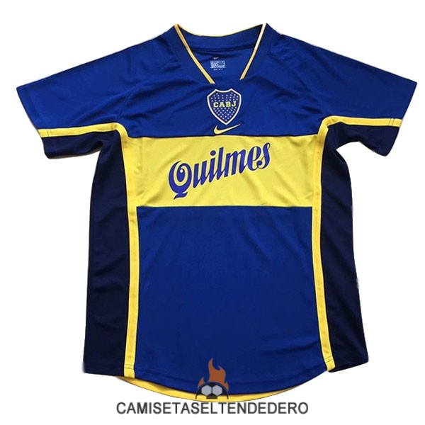 camiseta boca juniors retro primera 2001